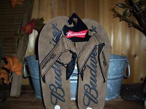 71942cafbf5 BUDWEISER MENS FLIP FLOPS SIZE SMALL 7-8 MENS SUMMER SHOES BEACHWEAR ...