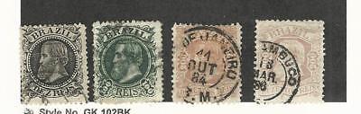Begeistert Brazil, Briefmarke, #82-86 Gebraucht, 1882-86 Grade Produkte Nach QualitäT