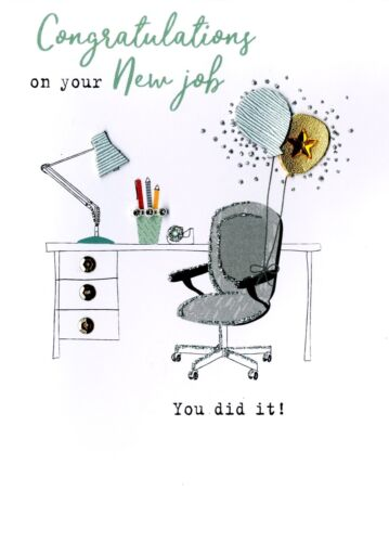 Congratulations On Your New Job irresistible Greeting Card Embellished cards