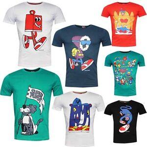 Puma-Mens-Super-X-Cotton-Cartoon-T-Shirt-Top-Short-Sleeve-Crew-Neck-R10F
