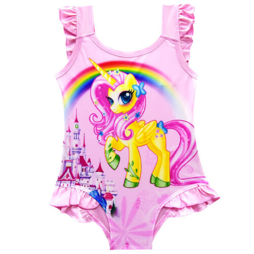 Girls Kids Character Swimwear Swimming Costume Swimsuit Bikini age 5-11years