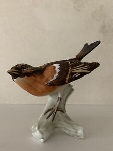 Vintage Goebel Bergfink Brambling Pinson Porcelain Bird Figurine CV 86 W Germany