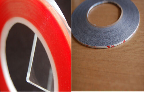 2mm X50M /&1.5mmx 33m red  tapeDouble Sided extremly strong Tape adhesive  fits