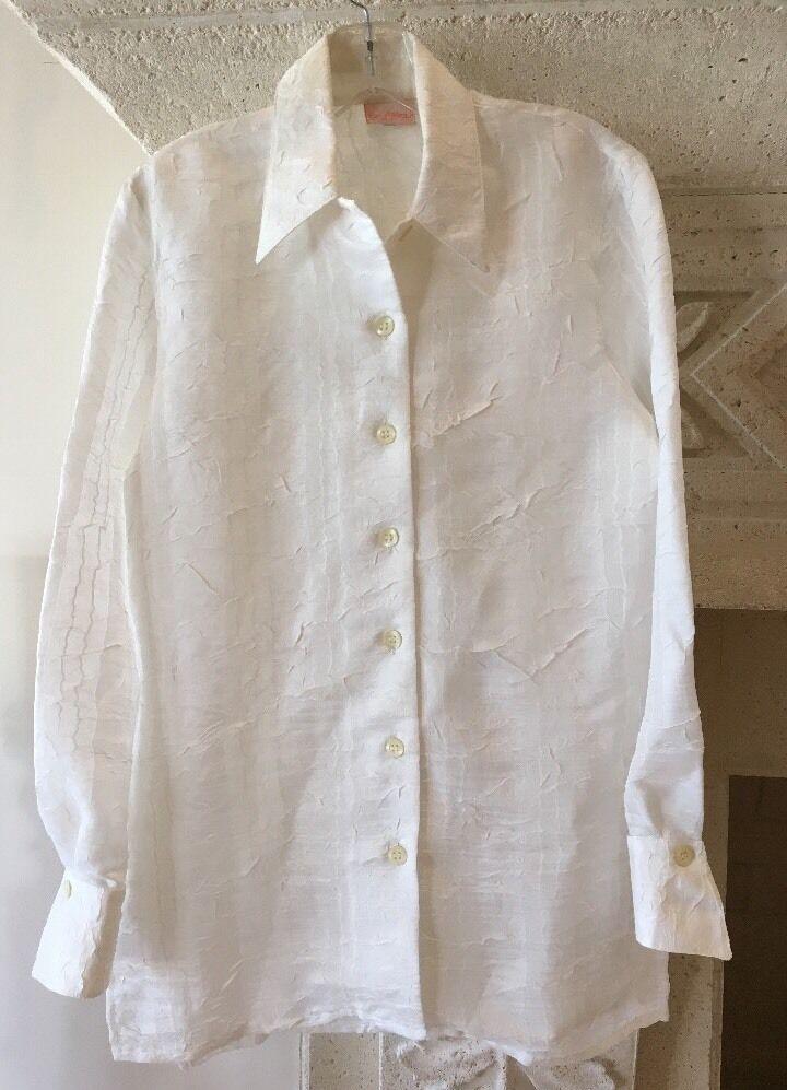 BYBLOS  Weiß Italian Button Down Shantung Style Blouse Größe 40