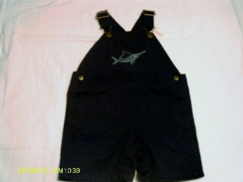Gymboree NWT Go Nautical Navy Blue Swordfish Pocket Shortalls