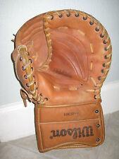 Vintage Left Hand WILSON ICE HOCKEY Blocker Double Leather GLOVE H-8361 USED