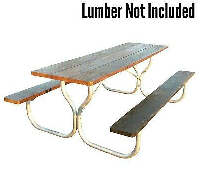 Peachy Commercial Grade Aluminum 8 Picnic Table Frame Rosendale Picnic Tables Ebay Machost Co Dining Chair Design Ideas Machostcouk