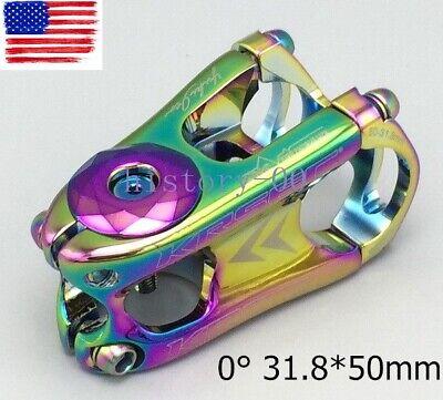 KRSEC Aluminum Stem 31.8*50mm 0° MTB Road Bike short Stems Top cap Expander