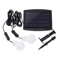 Solar Power Led Light Portable Bulb Lamp Lighting System For Camping Indoor Q3d8
