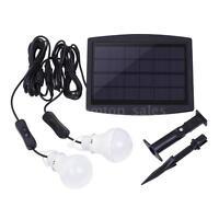 Solar Power Led Light Portable Bulb Lamp Lighting System For Camping Indoor Q3d8