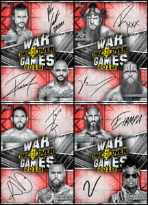 4 CARD RED SIGNATURE SET Cole//Ciampa+++ Topps SLAM NXT TakeOver WarGames 2018