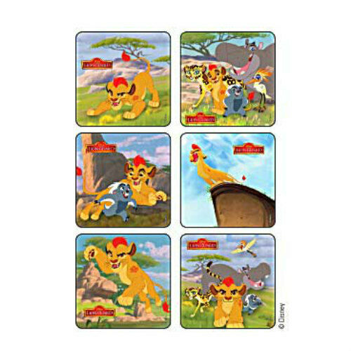 25 Lion Guard STICKERS Party Favors Supplies for Birthday Treat Loot Bags