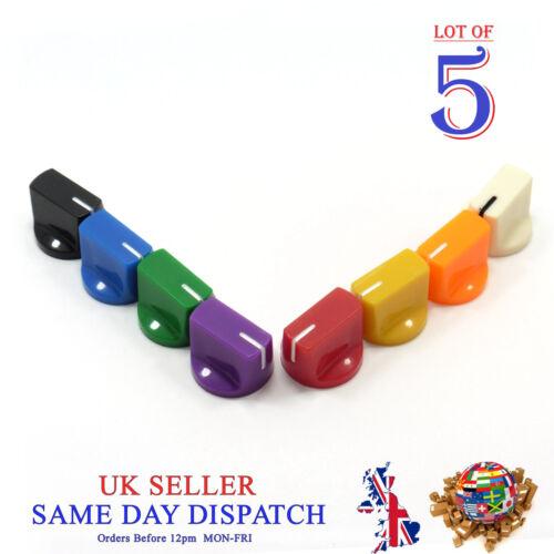 10x 6mm Big Push on Knob for Potentiometer Plastic Cap Different Colors 15mm