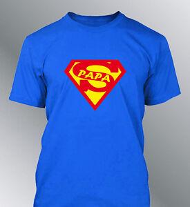 tee shirt personnalis super papa fete p res m l xl homme. Black Bedroom Furniture Sets. Home Design Ideas