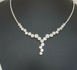 14Carat-White-Gold-Diamond-Round-Pave-setting-Necklace-2-05-carat