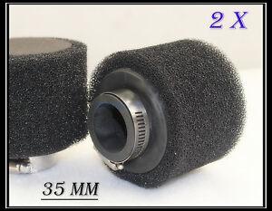 2x-35mm-Dual-Foam-Pod-Air-Filter-Cleaner-Dirt-Pit-Quad-ATV-Bike-Buggy-Go-Kart
