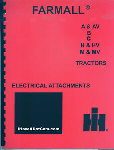 image is loading farmall-wiring-diagrams-electric-attachment-manual-a-av-