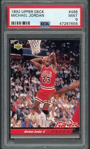 Michael Jordan 1992 Upper Deck Basketball Card #488 Graded PSA 9 MINT