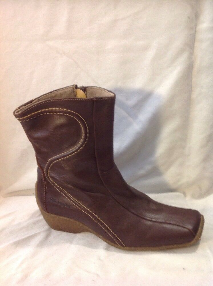 Wrangler Brown Ankle Leather Boots Size 40