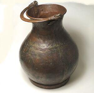 Antiker-grosser-Wassertrog-Gefaess-Kupfer-ca-40-x-38-cm-ungereinigt