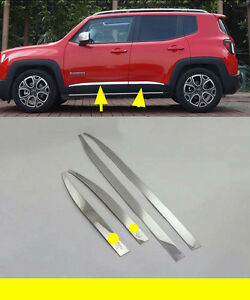 ABS Chrome Door Handle Bowl Cover Trim for 2015-2018 Jeep Renegade Black word