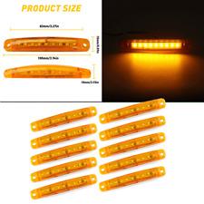 10x Amber Led Side Marker Lights Bullet Clearance Light Truck Trailer Wateproof