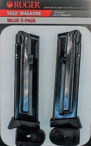 Ruger-SR22-22LR-10-Round-Magazine-90647-OEM-SR-22-22-10rd-Mag-Value-2-Pack