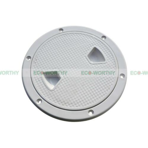 """8"""" ECO Marine Screw Out Deck Plate Inspection Hatch Plastic Access Boat RV vv"""