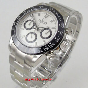 39mm-PARNIS-Weisses-Zifferblatt-Saphirglas-Solid-Volle-Chronograph-Quarz-Herrenuhr