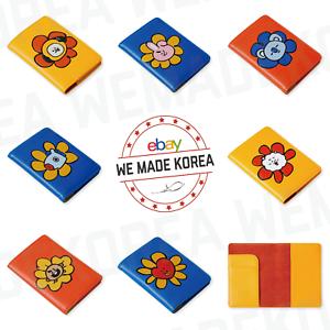 BT21 Character Flower Passport Case Cover 7types Official K-POP Authentic Goods