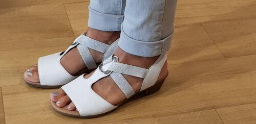 in bianca Nuovi Gabor Sandali sandali 50 pelle 471 donna 82 Comfort qOq8Znv