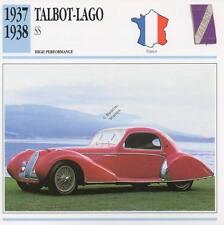 1937-1938 TALBOT LAGO SS Classic Car Photo/Info Maxi Card