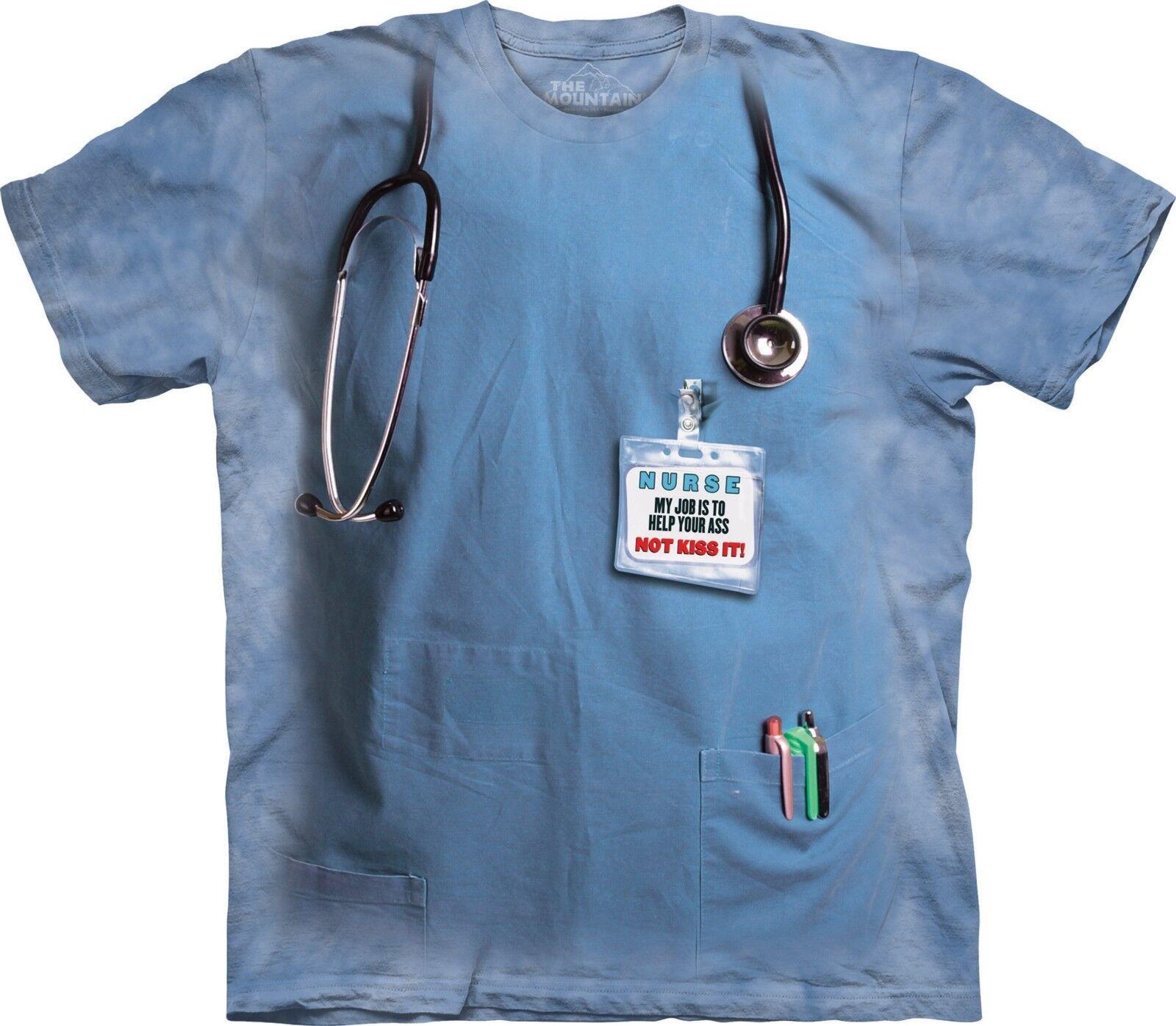 Nurses Job Humgoldus T Shirt Adult Unisex The Mountain