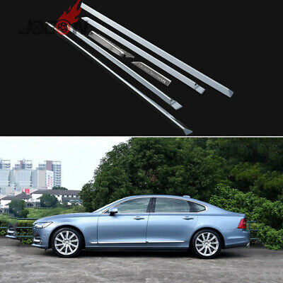 4PCS Car Body Moulding Protect Trim ABS Chromed Silver for Lexus LX570 2016-2017