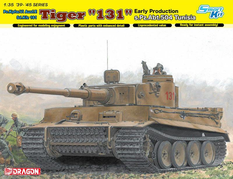 DRAGON modelloS PANZER VI SDKFZ 181 TIGER I EARLY PZ. ABT. 504 TUNISIA 1943 135