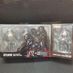 1/18  JOY TOY Skeleton Forces Double Sickle SQUAD&Helan 4 Action Figures 10.5cm