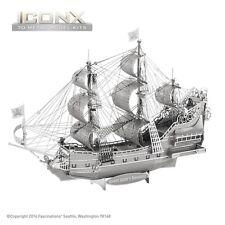 Fascinations Metal Earth Queen Anne's Revenge Ship ICONX Laser Cut 3D Model