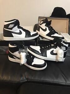 Nike Air Jordan 1 Retro High OG Black White SZ 9 DS 555088 010 Oreo ... 45e4ba167