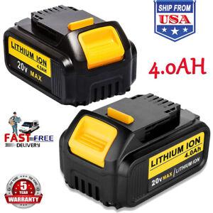 2-DCB205-For-DEWALT-20V-20-Volt-XR-Lithium-Battery-4-0Ah-DCB204-DCB200-DCB201