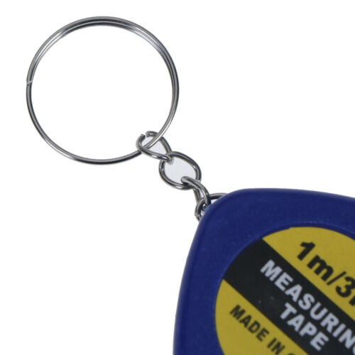 1Pc Rini keychain key ring easy retractable tape measure pull ruler 1mRA