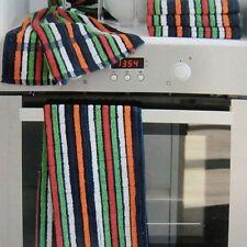 6x Frottee Grubentücher gestreift, Grubentuch, Kuchentücher, Küchen Handtücher