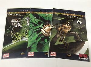 SCOURGE-OF-THE-GODS-THE-FALL-1-3-MARVEL-SOLEIL-111532-COMPLETE-SET-LOT-OF-3