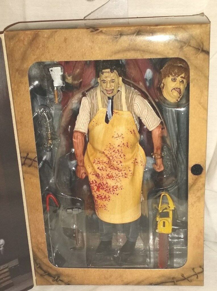 NECA Ultimate Chainsaw 40th Ann. Horror Action Figure LEATHERFACE Texas Chainsaw Ultimate Massacre a39ffb