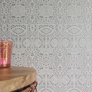 Tapete weiß glitzer  Spitze' Designer Grau silber & weiß glitzer texturiert Spitzen ...