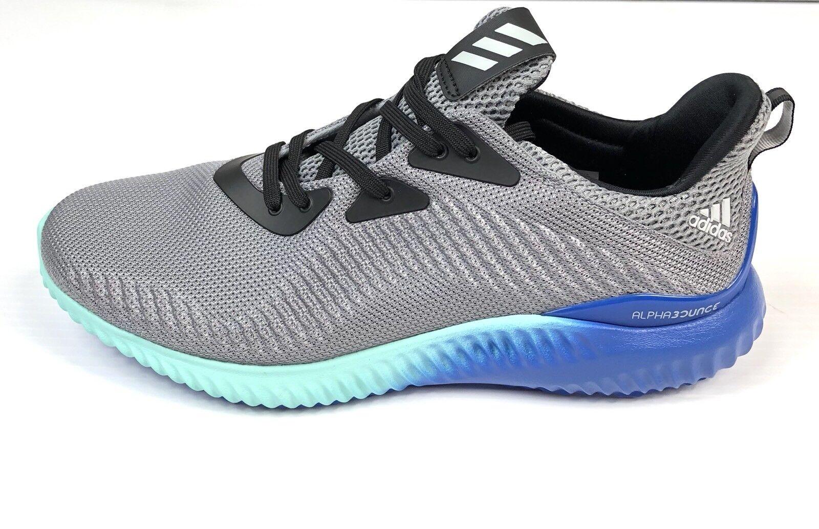 Adidas alphabounce scarpe 10 da corsa grey onyx aqua taglia 10 scarpe bb9035 nuova 5b2649