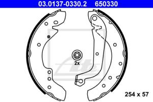 Bremsbackensatz para dispositivo de frenado eje trasero ate 03.0137-0330.2