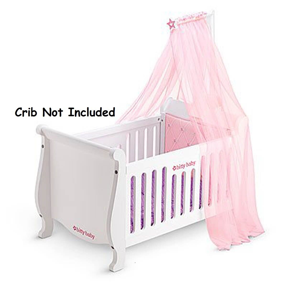 American Girl Bitty Baby Sweet & Soft Canopy Pink NIB Fits on Crib