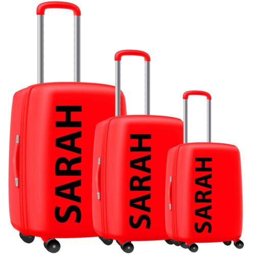Personalised Stickers For Hard Suitcase Luggage Vinyl Decal Sticker Travel Sun