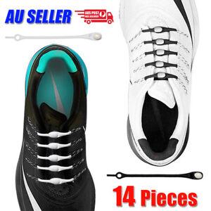No-Tie-Silicone-Shoelaces-Elastic-Loop-N-Lock-Adult-Sneaker-Runner-Shoe-Laces