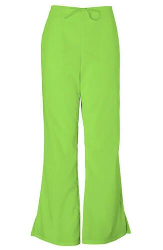 3a4bec29c75 1 of 3FREE Shipping Cherokee Workwear Flare Leg Drawstring Pants Lime Green  PETITE 4101P LMGW